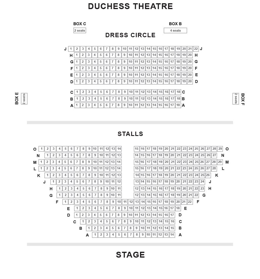 Duchess Theatre Seating Plan