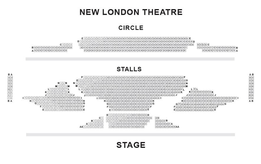 New London Theatre Seating Plan