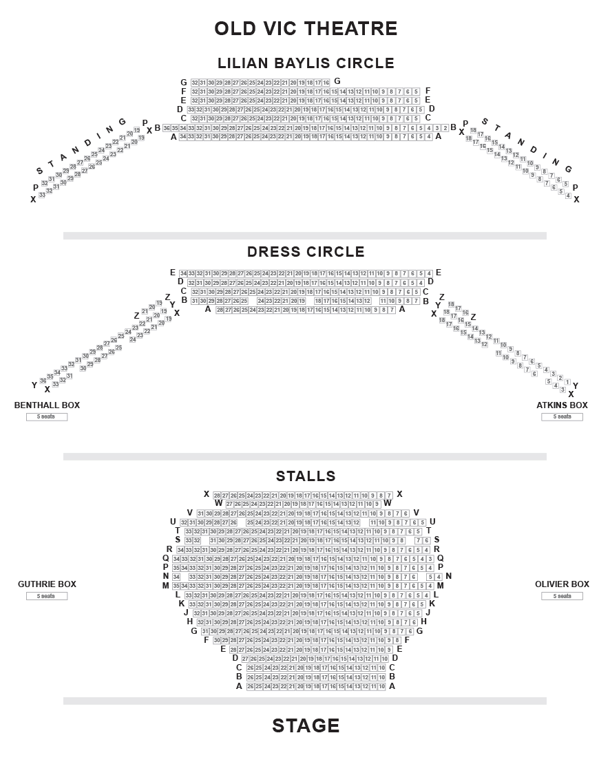 The Old Vic Seating Plan