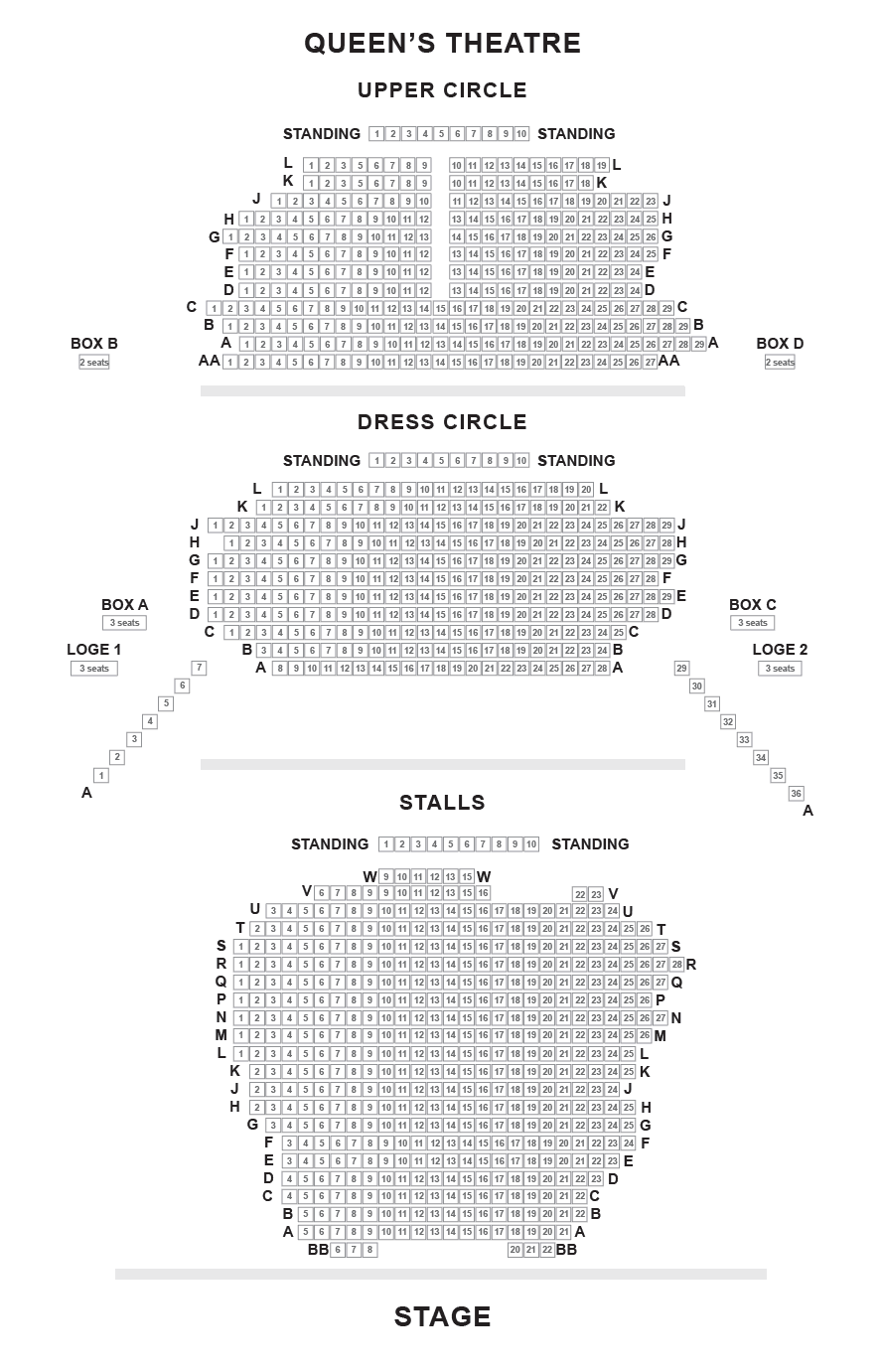Sondheim Theatre Seating Plan