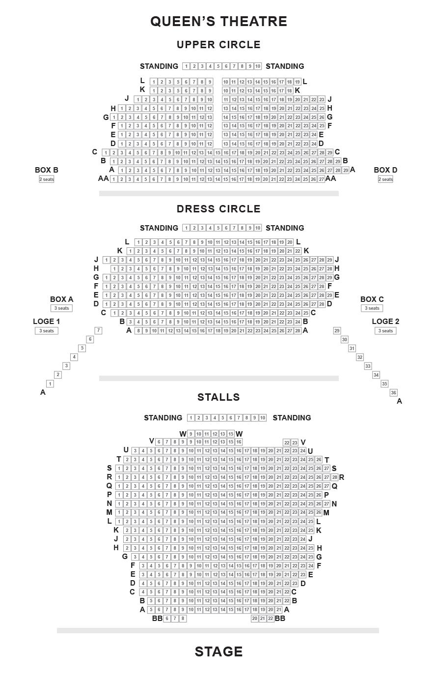 Queen's Theatre Seating Plan