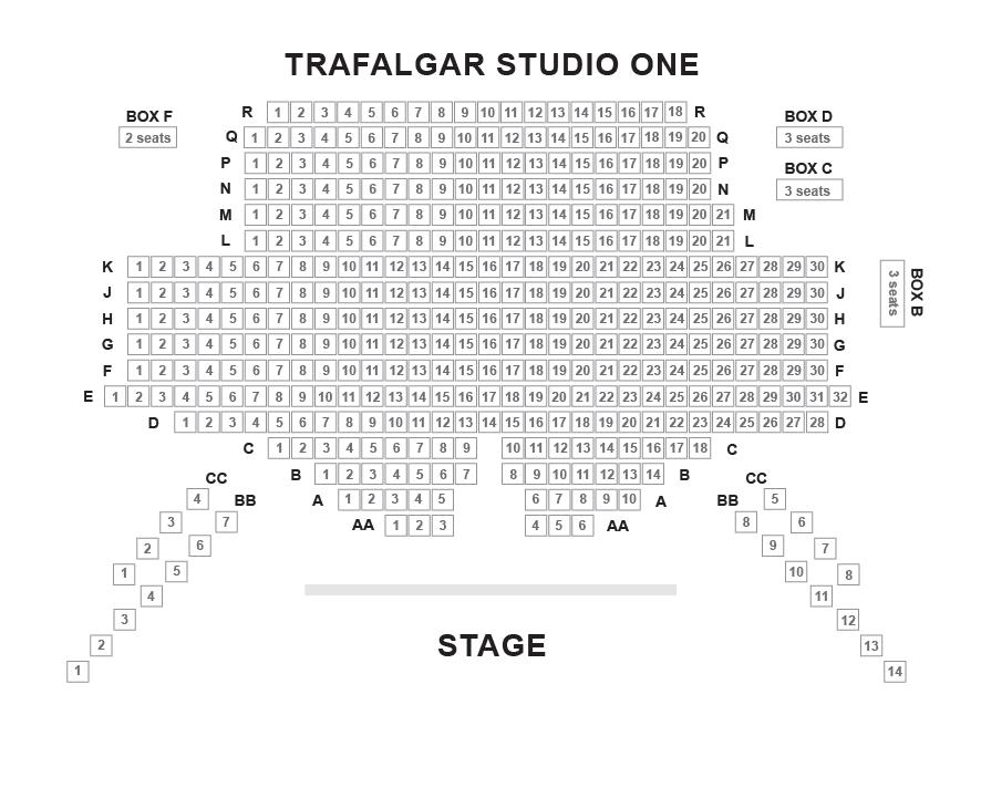 Trafalgar Studios Seating Plan