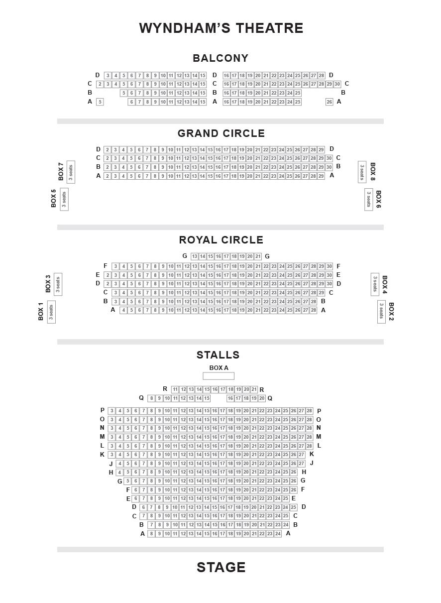 Wyndham's Theatre Seating Plan