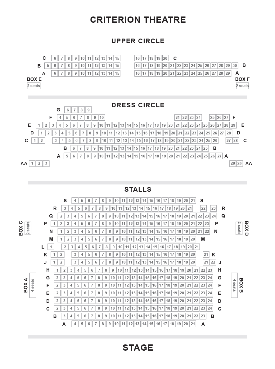 Criterion Theatre Seating Plan