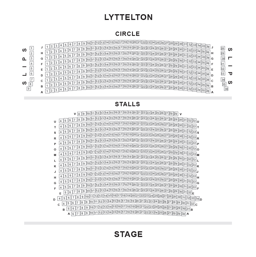 National Theatre - Lyttleton Theatre Seating Plan