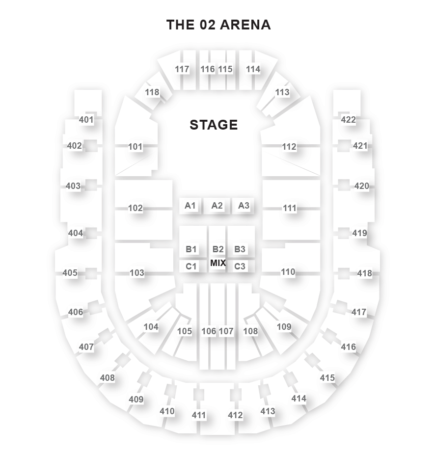 O2 Arena Seating Plan