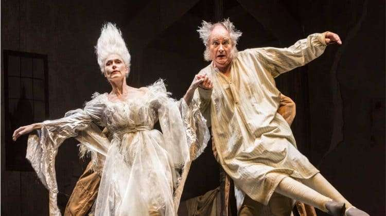 Jim Broadbent and Amelia Bullmore  in A Christmas Carol. Photo: Johan Persson