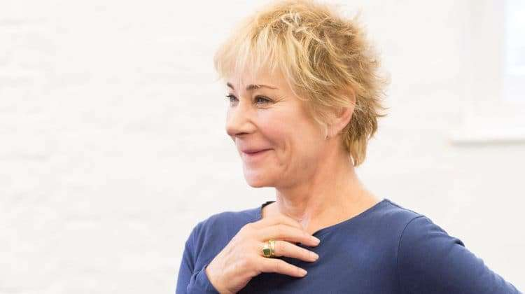 Zoe Wanamaker in rehearsals for Harlequinade. Photo credit Johan Persson