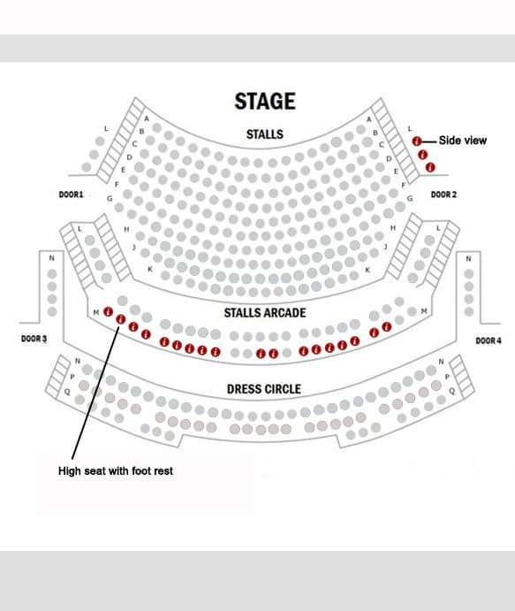 Hampstead Theatre Seating Plan