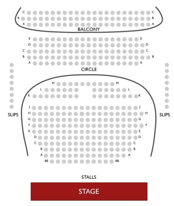 Royal Court Theatre Seating Plan