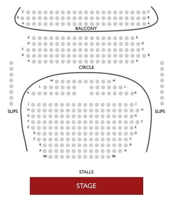 Royal Court Theatre Seating Plan