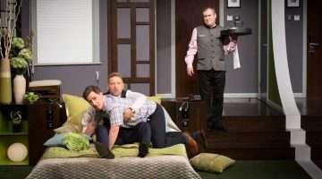 Kenneth Branagh, Mark Hadfield, Rob Brydon   The Painkiller   Garrick Theatre   Credit Johan Persson