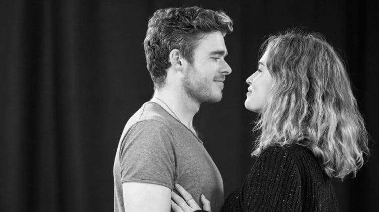 Romeo and Juliet (Kenneth Branagh Theatre Company) - Richard Madden (Romeo), Lily James (Juliet) Credit Johan Persso