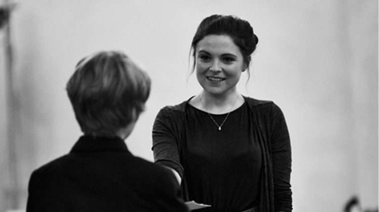 Gemma Sutton in rehearsal for The Go-Between