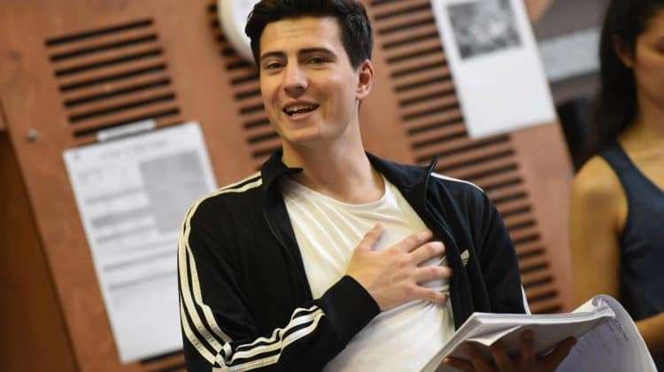 Jacob Ifan in rehearsal for A Tale of Two Cities. Photo: Robert Day